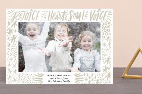 Rejoice with Heart and Soul and Voice Exuberance Holiday Petite Cards
