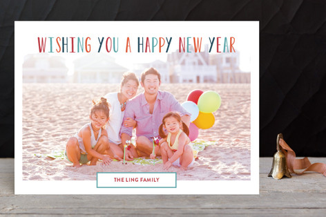 Colorful New Year Holiday Petite Cards