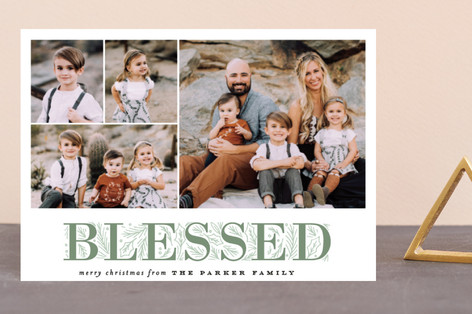 Blessing Letter Pines Holiday Petite Cards