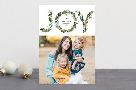 Greenery Joy Holiday Petite Cards