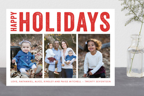 Merry Triptych Holiday Petite Cards