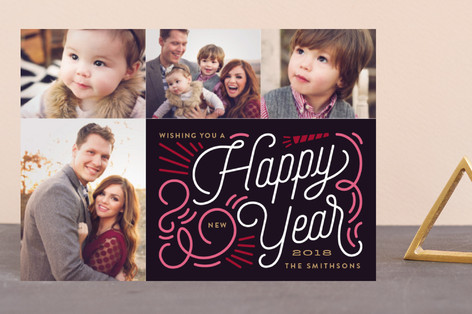 Swirl New Year Holiday Petite Cards