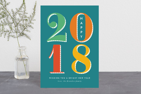 Bright New Year Holiday Petite Cards