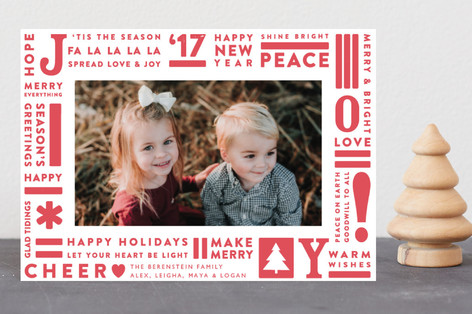 Joy Type Holiday Petite Cards