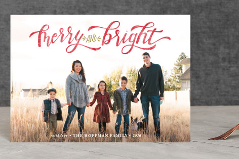 Merry & Bright Hand Lettered Holiday Petite Cards