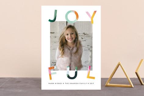 Painted Joyful Holiday Petite Cards
