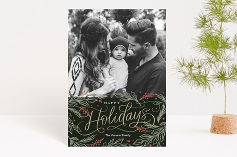 Embellished Pines Holiday Petite Cards