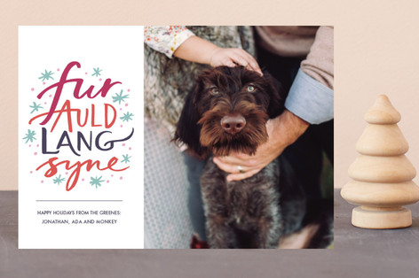Fur Auld Lang Syne Holiday Petite Cards