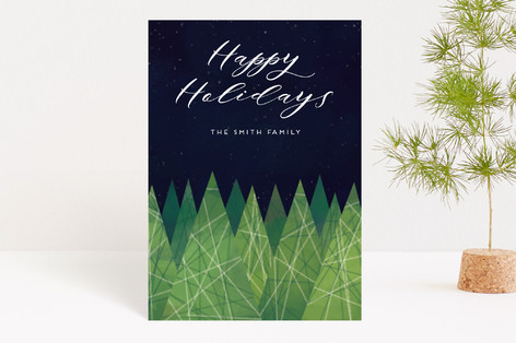 Christmas Trees Holiday Petite Cards