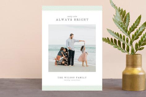 rarely calm stripes Holiday Petite Cards
