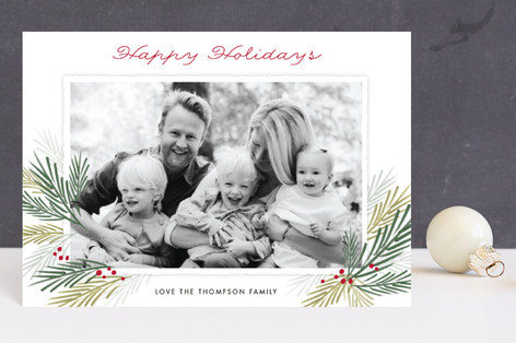 Pine Boughs Holiday Petite Cards
