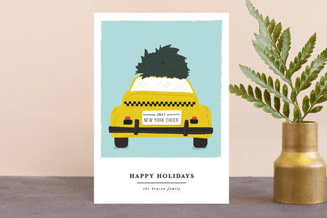 new york transport cheer Holiday Petite Cards