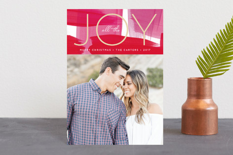 Modern Painted Joy Holiday Petite Cards