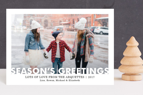 Merry Window Cutout Holiday Petite Cards