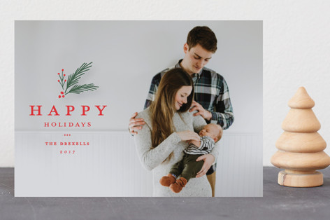 Classic foliage overlay Holiday Petite Cards