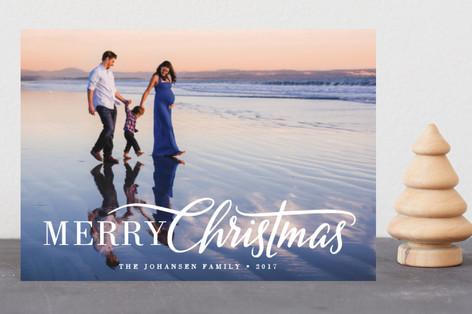 Script Christmas Holiday Petite Cards