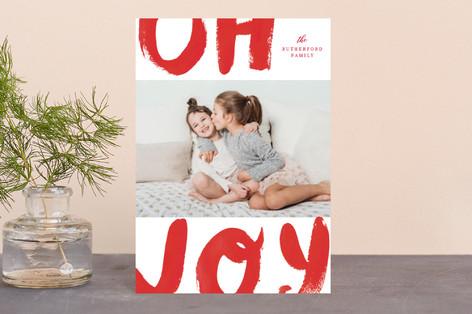 Brush Painted Joy Holiday Petite Cards