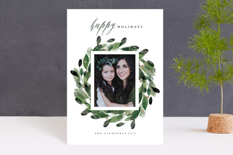 Natural Wreath Holiday Petite Cards