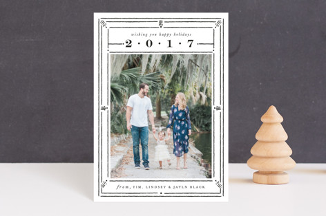 Line Dot Frame Holiday Petite Cards