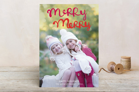 Handlettered Merry Merry Holiday Petite Cards