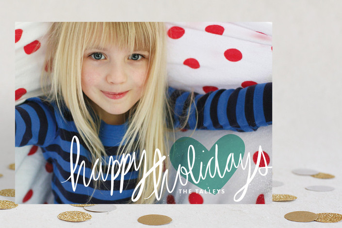 """Autograph"" - Elegant, Full-Bleed Photo Holiday Petite Cards in Pure White by Jody Wody."