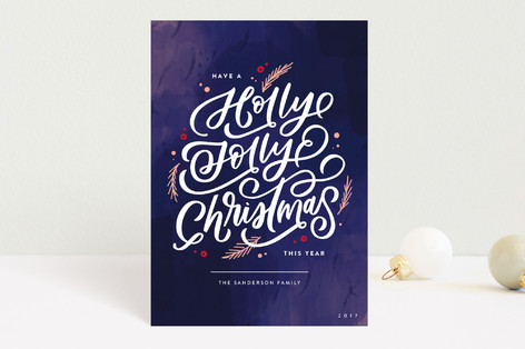 Holly Jolly Berries Holiday Petite Cards