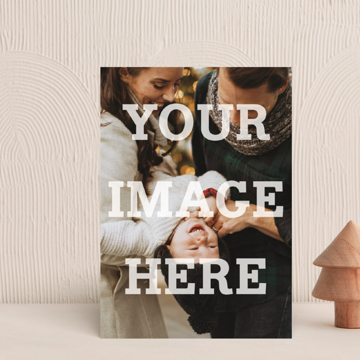 """""""The Big Picture"""" - Simple, Full-Bleed Photo Holiday Petite Cards in White by Minted."""