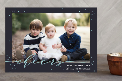 New Year Cheers Holiday Petite Cards