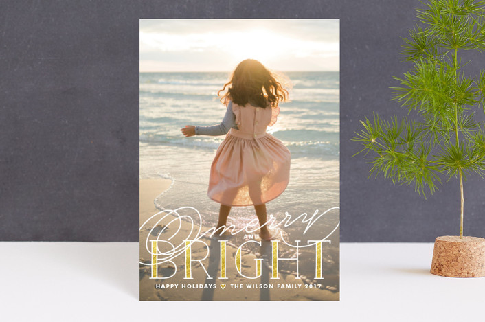 """""""Golden Bright"""" - Full-Bleed Photo, Classical Holiday Petite Cards in Gold by Melanie Severin."""