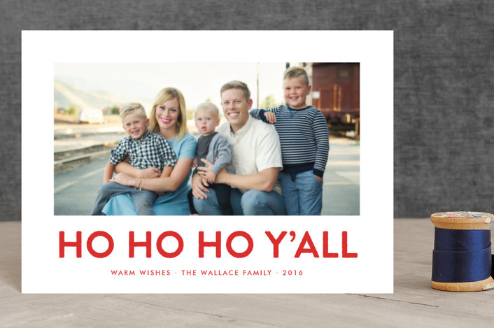 """""""Southern Accent"""" - Funny Holiday Petite Cards in Rodeo Red by toast & laurel."""