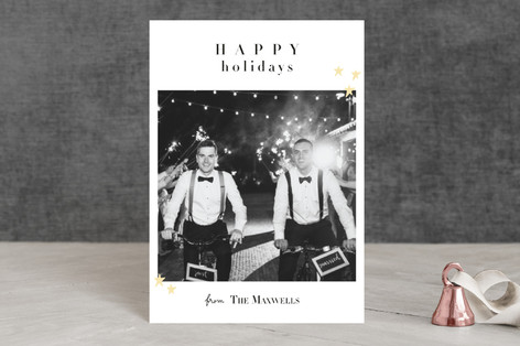 Married Christmas Holiday Petite Cards
