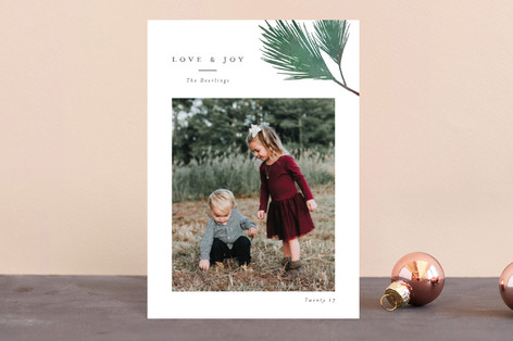 Evergreen branch Holiday Petite Cards