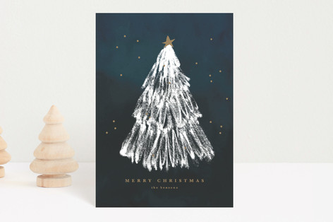 White Christmas Holiday Petite Cards