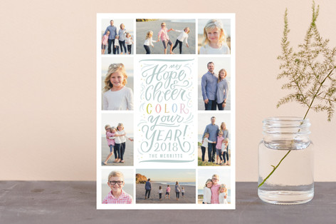Color Your Year Holiday Petite Cards