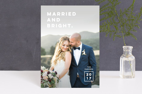 Married. Bright. Holiday Petite Cards