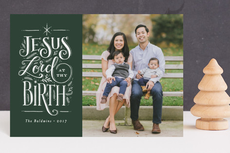 Jesus Lord at thy birth Holiday Petite Cards