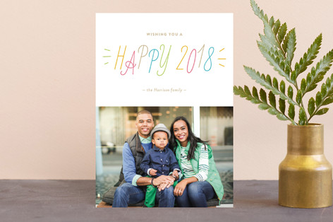 Confetti Color Holiday Petite Cards