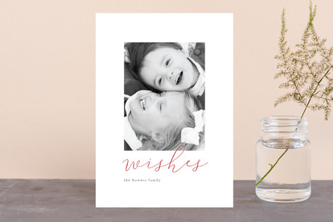 Minimal Script Holiday Petite Cards