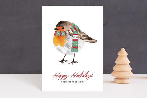 christmas robin Holiday Petite Cards