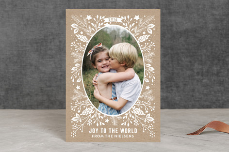feuillage hivernal Holiday Petite Cards
