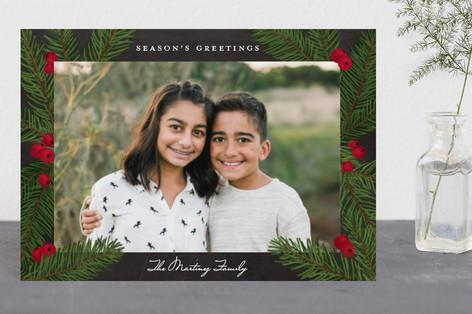 Pine Sprig Frame Holiday Petite Cards