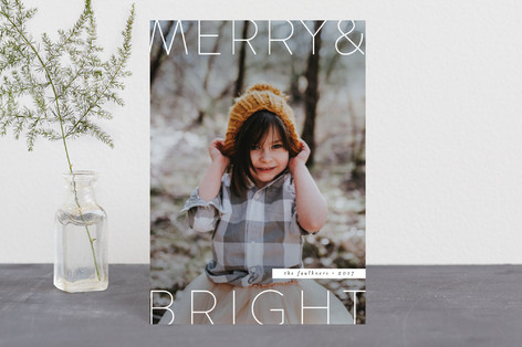 Modern O Holy Night Holiday Petite Cards