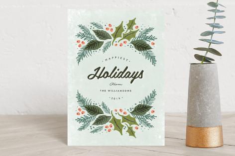 winter evergreens Holiday Petite Cards