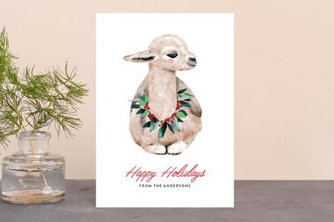 baby llama Holiday Petite Cards