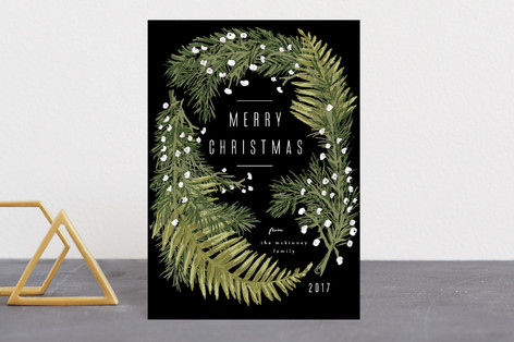 Winter Ferns Holiday Petite Cards
