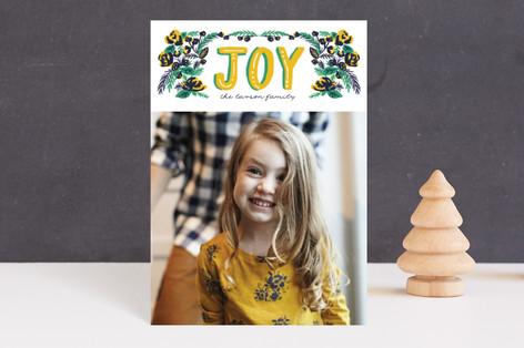 vintage floral joy Holiday Petite Cards