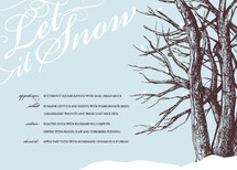 Let it Snow Holiday Party Menus