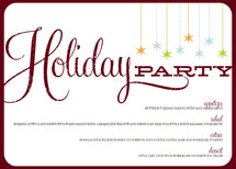 Retro Party Holiday Party Menus