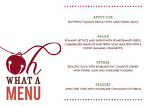 Oh What Fun Holiday Party Menus
