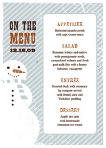 Retro Snowman Holiday Party Menus